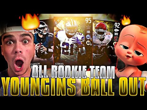 ALL ROOKIES TEAM! 99 YARD DRIVE FOR THE WIN? | MADDEN 17 ULTIMATE TEAM