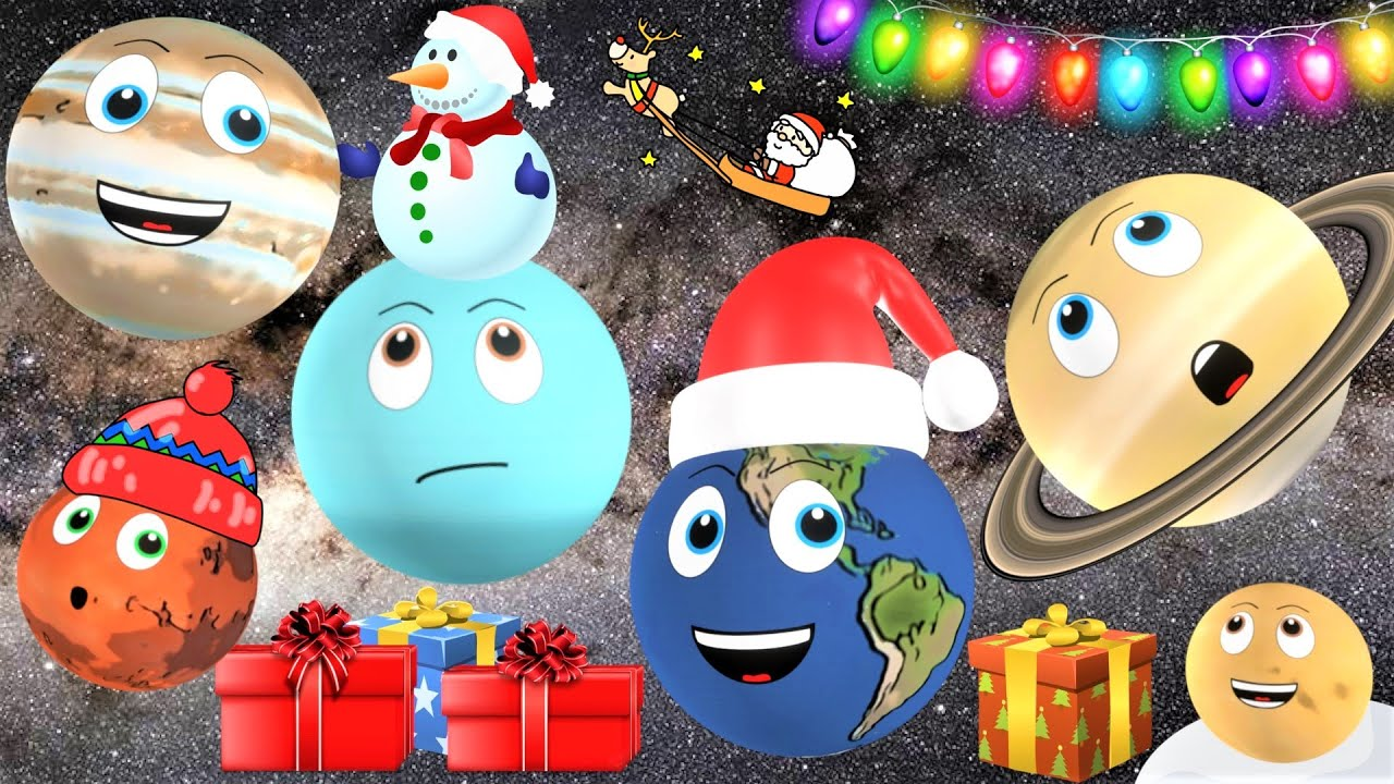 Christmas Planets for Kids | Planet Song