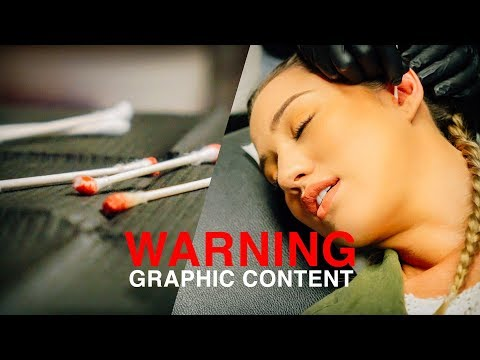 WARNING! GRAPHIC CONTENT // The Migraine Daith Piercing | Vlog