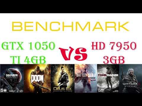 Тестирование GeForce GTX 1050 Ti vs HD 7950  с процессором Xeon X3440 4Ghz OC