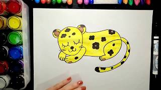How to draw a leopard【 Ginger