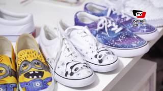هبه.. مشوار فتاة من الرسم على الوجوه إلى الأحذية