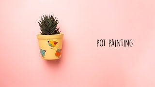 Easy DIY Pot Painting    Terracotta Painting