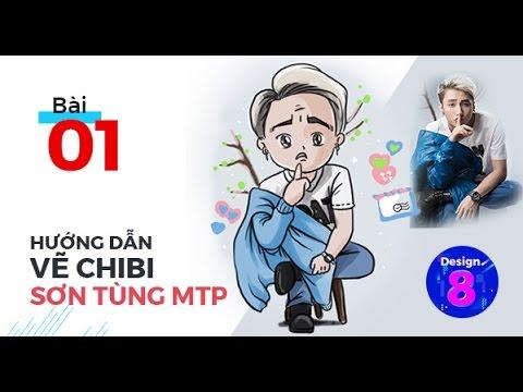 Hướng dẫn vẽ Sơn Tùng MTP cực cute | Drawing Son Tung MTP Lac Troi | Design 8