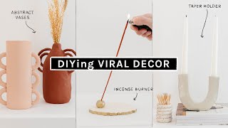 DIYing VIRAL PINTEREST HOME DECOR Using CLAY! ✨ Budget Friendly & Cute ✨