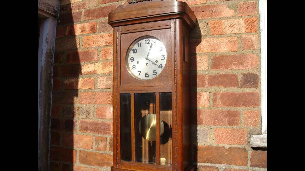 Antique Old Vintage Junghans German Westminster Wall Clock