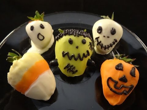 Dipped Strawberries for Halloween - with yoyomax12