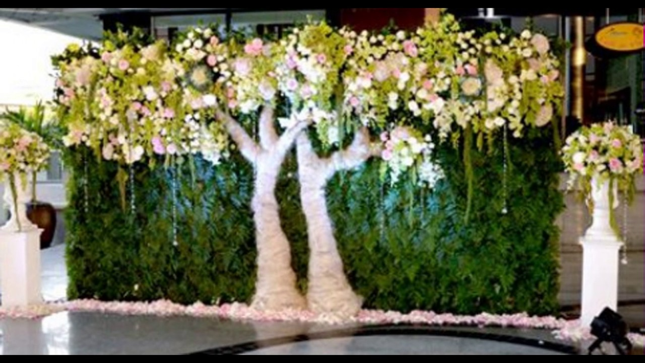 Madurai Decorators Green Wedding Backdrop Youtube