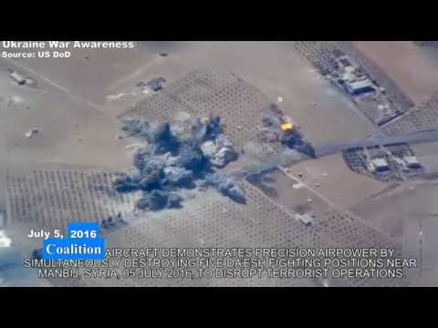 New footage US Coalition Airstrike against ISIS in Syria released by DoD.