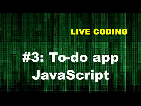 To-do app in JavaScript - Live Coding