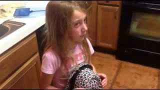 Sad Kids Mourn the Loss of their Goldfish Little Girl Crying over Pet Fish