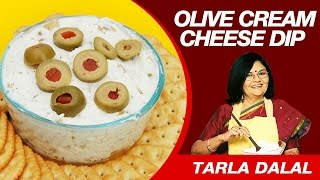 This Video Is Unavailable.     Olive Cheese Cream Dip Recipe By Tarla Dalal | Pure Vegetarian