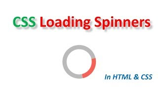 css loading spinner in Html and CSS |Tech Talk Tricks