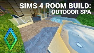 Sims 4 Outdoor Spa - Room Build