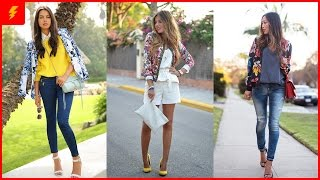 Spring Outfits With Floral Jackets You Will Love To Copy