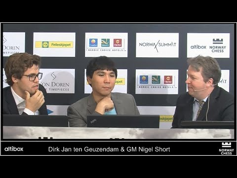 MAGNUS CARLSEN VS WESLEY SO - ANALYSIS AND INTERVIEW AFTER GAME | NORWAY CHESS 2017 ROUND 1