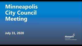 July 31, 2020 Minneapolis City Council