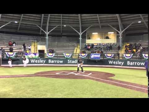 Watch Lorenzo Doss sail his first pitch at St. Augustine