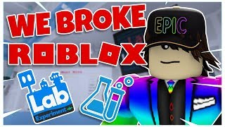 WIR BROKE LAB EXPERIMENT!!! | Roblox