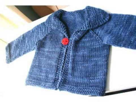Free Knitting Patterns For Baby Sweaters Beginners : Easy Knit Baby Cardigan For Beginners - YouTube