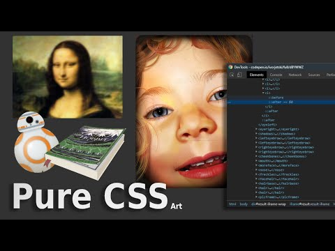 15 Pure CSS Realistic & Smart Art - From Codepen