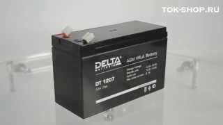 Delta DT 1207 - видео обзор AGM аккумулятора