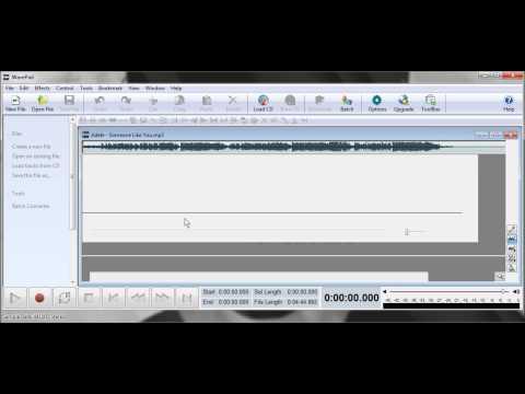 Cara-cara menyunting audio menggunakan perisian Wave Pad.