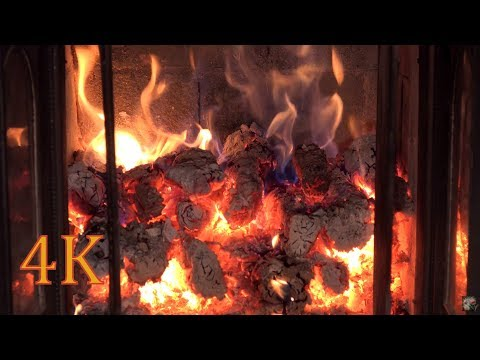 2 hours REAL TIME 4K Fireplace video  recording  - NO LOOP
