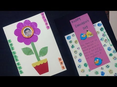 Handmade Children Day Card Children S Day Card Making Ideas How To