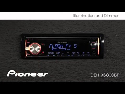 How To - DEH-X6800BT - Color, Illumination, and Dimmer
