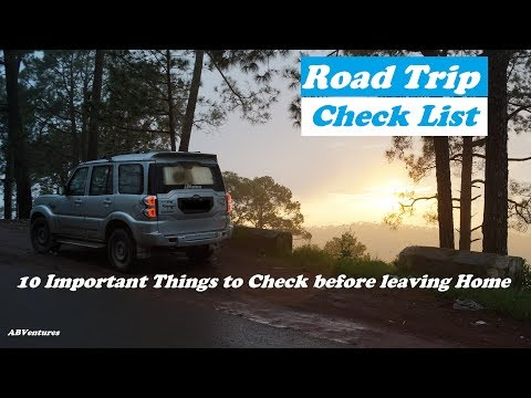 Long drive/Roadtrip Checklist: 10 Important points to check before leaving Home