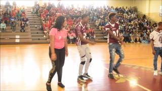 FHHS Homecoming Pep Rally 2016 - Juju on that Beat Dance Challenge (10-20-2016)