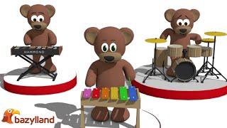 Singing Teddy Bears - Children's alphabet song | Video for Kids and Babies