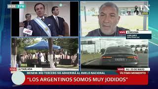 Luis Juez, tras la muerte de Menem: