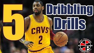 How To: Get Handles At Home | 5 Dribbling Drills To Do Anywhere | Pro Training Basketball