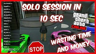 How to get SOLO PUBLIC SESSION in 10 sec GTA 5 0nline (NO RACE)&(NO JUMPING SESSIONS) MONEY GLITCH