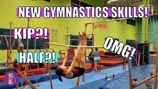 NEW GYMNASTICS SKILLS!   Unseen Gym Clips   Bethany G