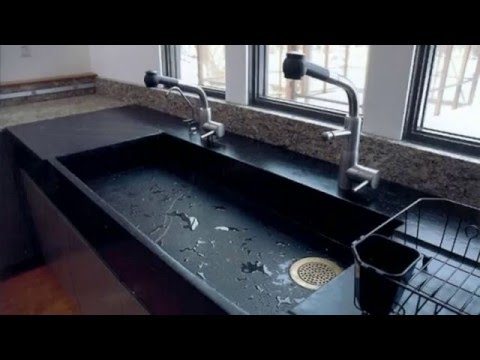 Kitchen Sink   Fancy Designs From Different Types Of Stone   YouTube