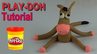 Play doh donkey video tutorial, play dough animals