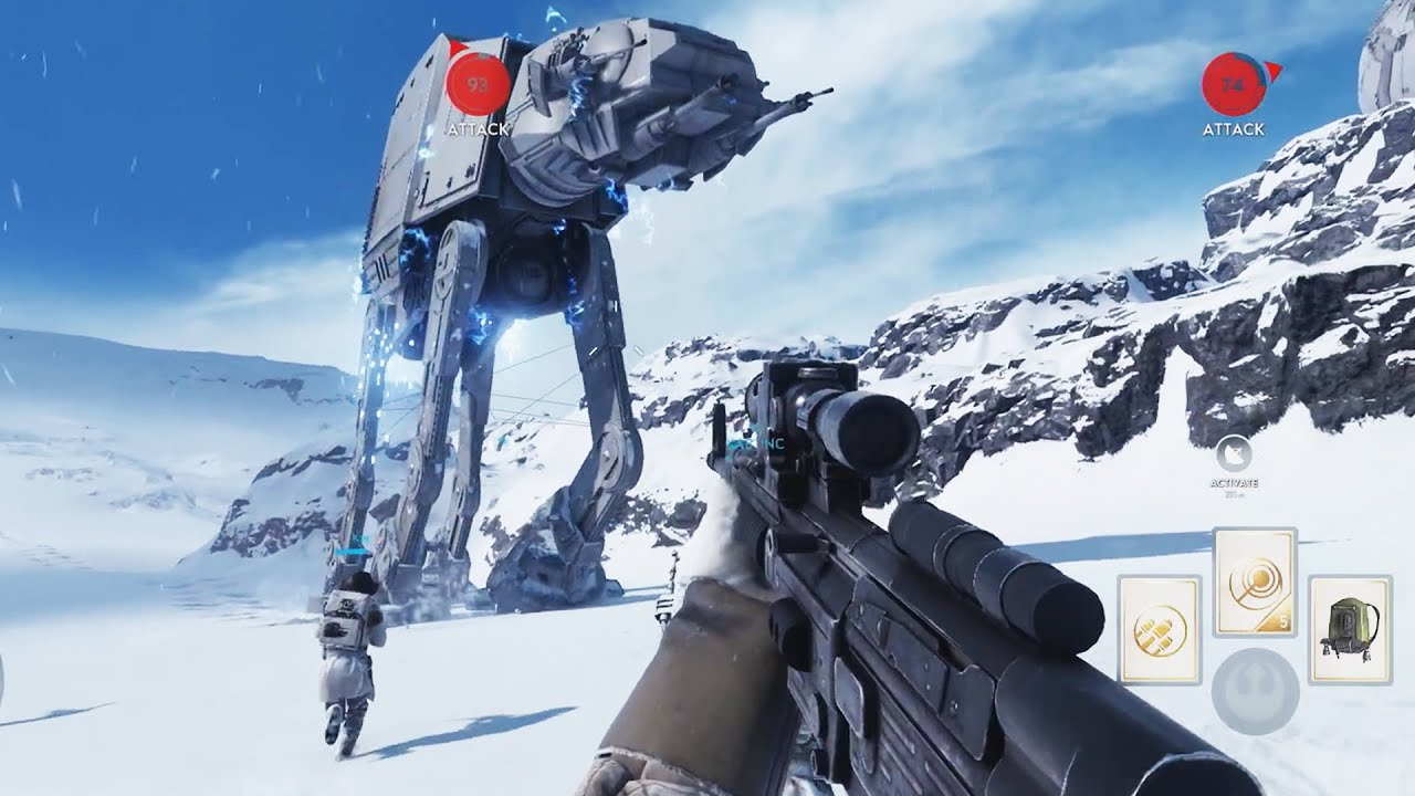 star wars: battlefront 'gameplay' on hoth! 'ps4 demo' footage! e3