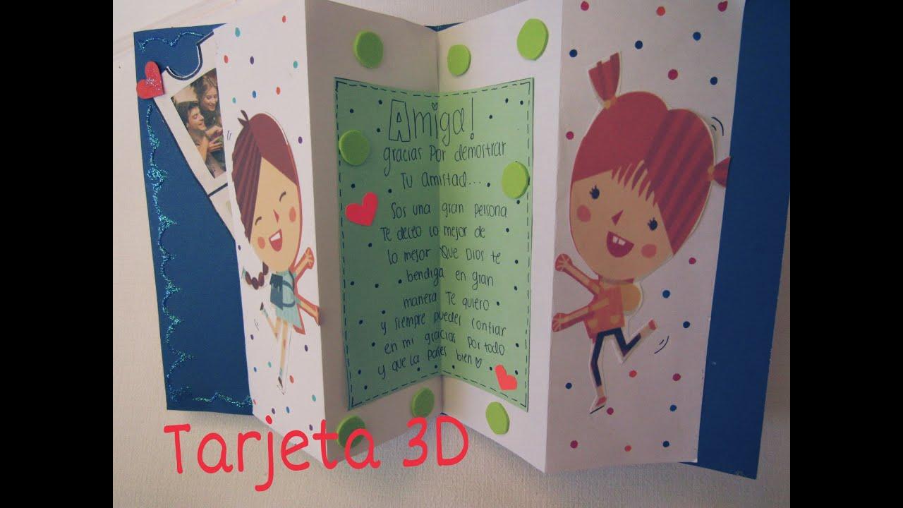 Diy manualidades tarjetas para regalar facil y creativa 3d - Manualidades para hacer tarjetas ...