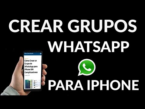Cómo Crear un Grupo de WhatsApp en iPhone