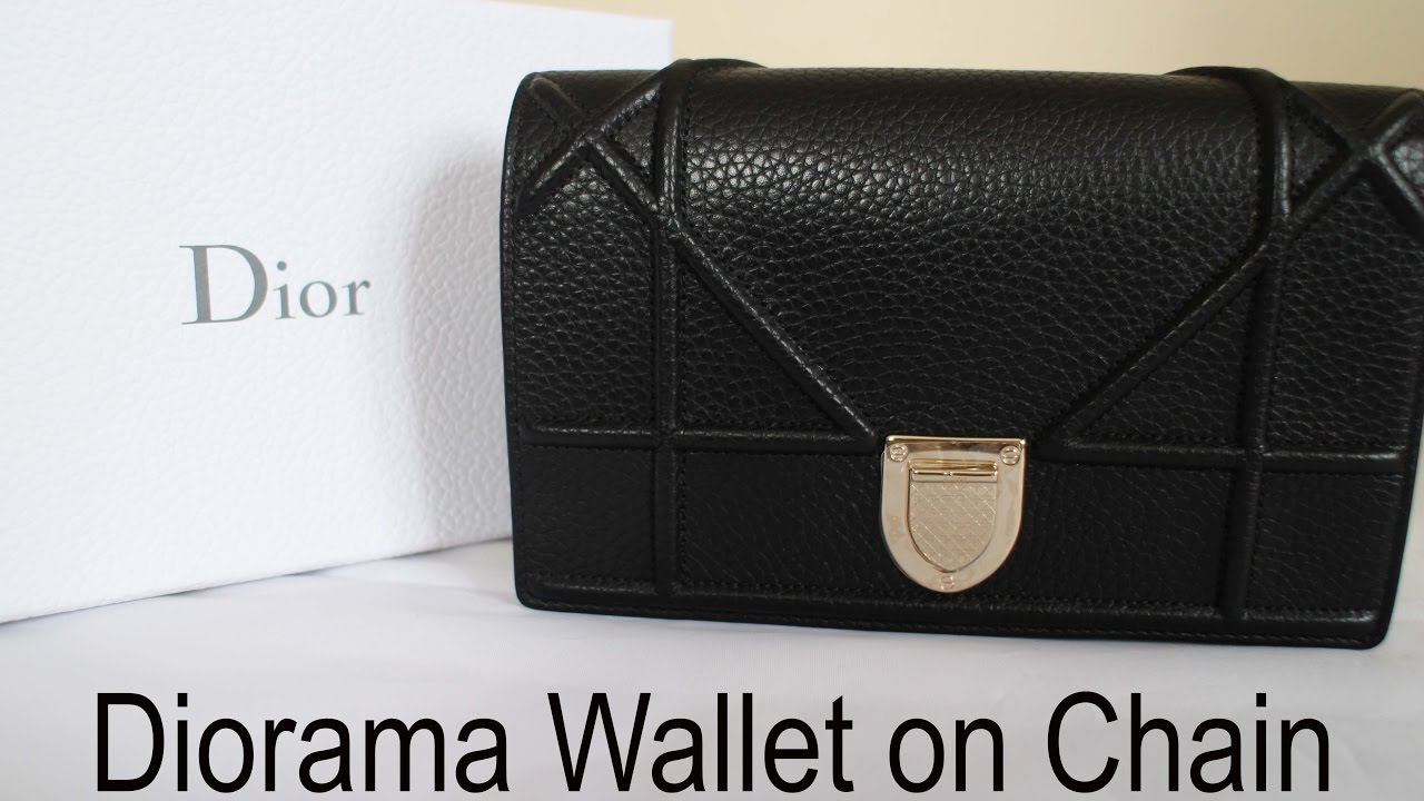 Dior Diorama Wallet On Chain Unboxing And Reveal Youtube