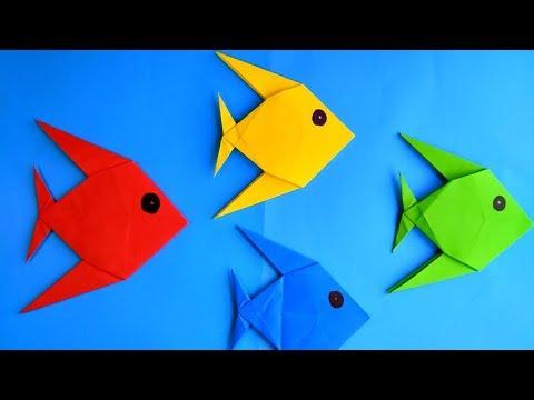Pez de papel Origami Facil de hacer - How to make a Paper fish