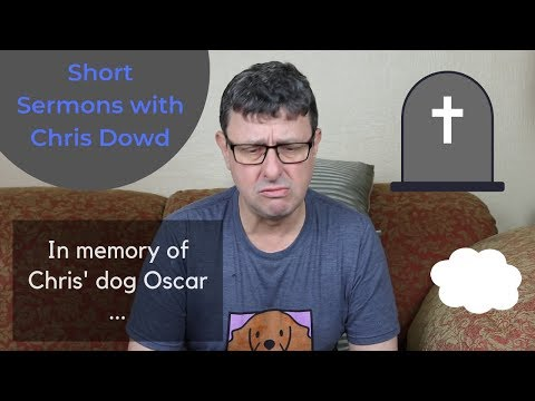 Short Sermons with Chris Dowd: In memory of Chris' dog Oscar