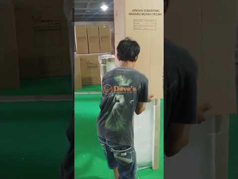 Proses Packing Furniture Dengan Busa, Stereofoam, Plastik Wrap, Dan Karton   DOVES FURNITURE