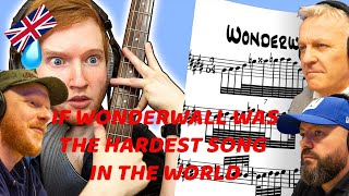 If WONDERWALL Was The Hardest Song In The World REACTION!!   OFFICE BLOKES REACT!!