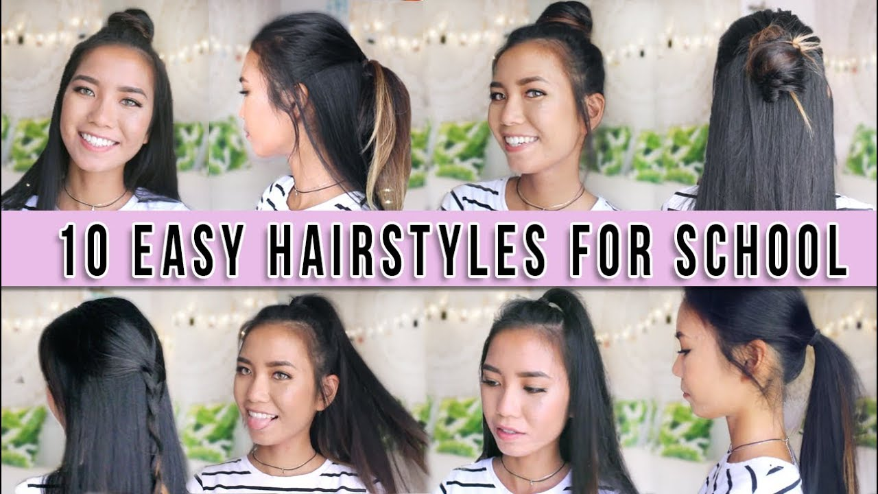 easy 1 minute no heat hairstyles! back to school 2017 | michelle kanemitsu