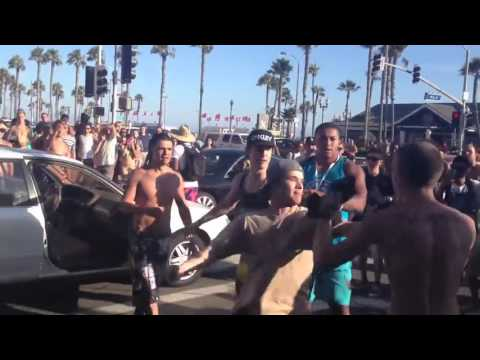 Beach Boardwalk Street Fight 2016