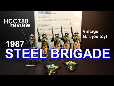 HCC788 - 1987 STEEL BRIGADE - Personalized action figure - vintage G. I. Joe toy review! HD